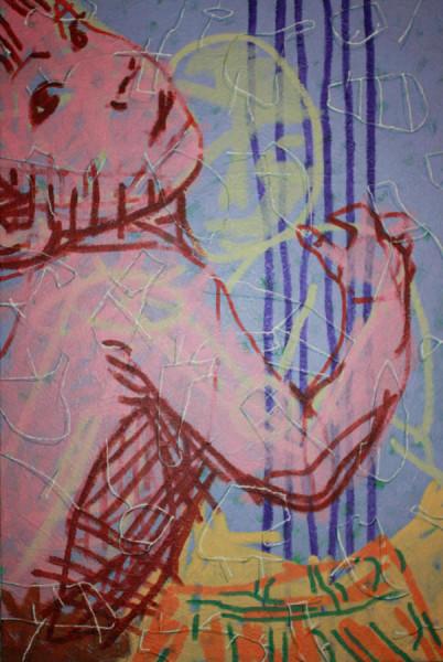 Abraçando a saudade - Pintura
