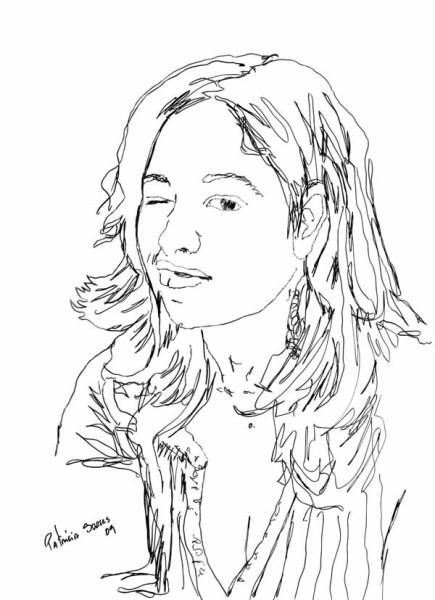 Retrato de Patrícia Soares - desenho