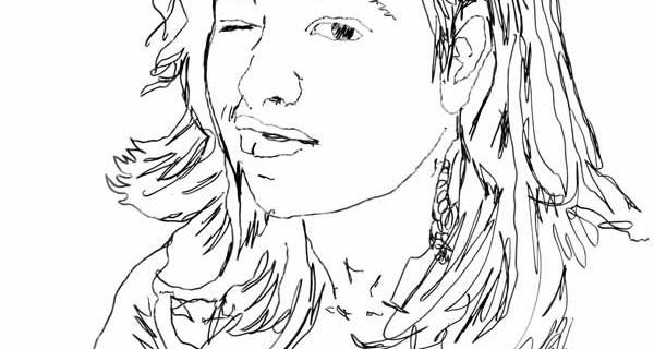 Retrato de Patrícia Soares – desenho