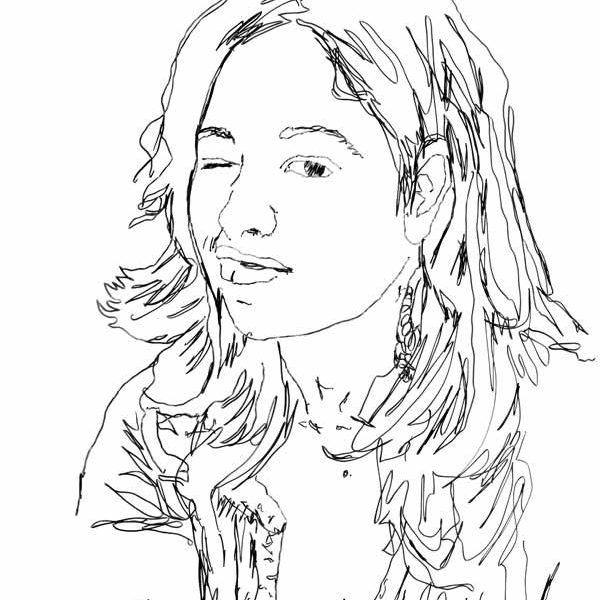 Retrato De Patrícia Soares - Desenho - Silva Nuno