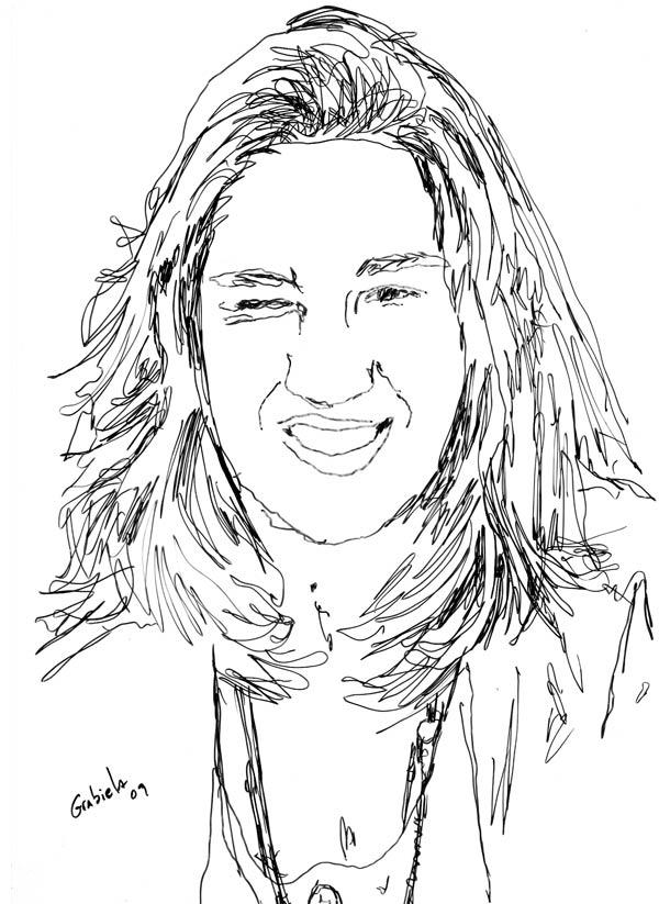 Retrato De Gabriela – Desenho A Caneta